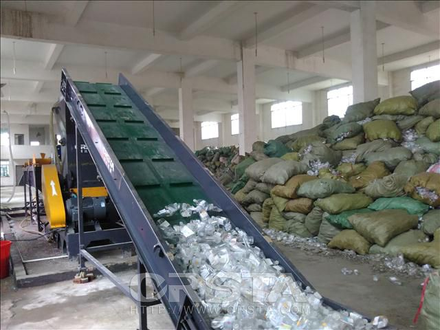 Waste medical drip bottle processing production line