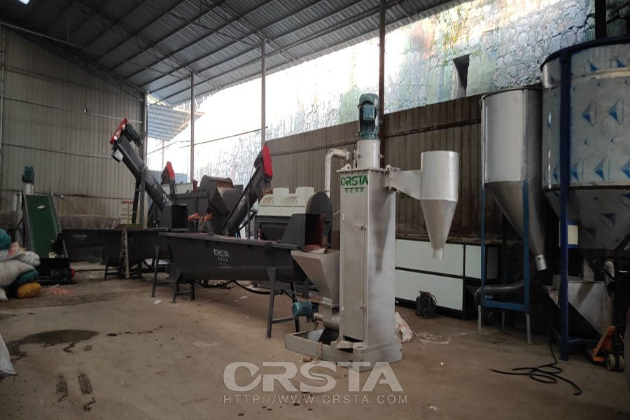HDPE waste crushing and cleaning production line