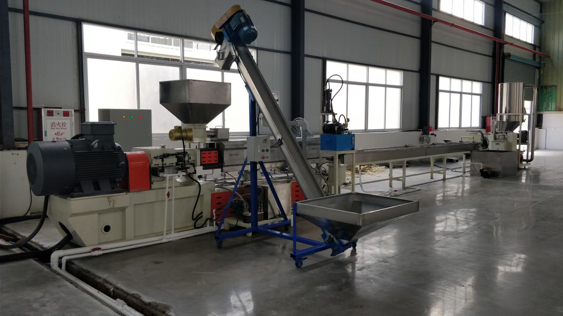 PET flakes pelletizing line